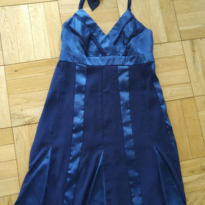 AGB blue summer dress - size 10P